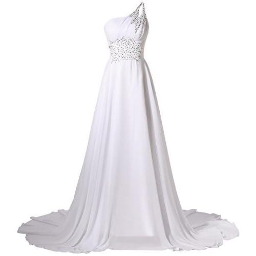 free shipping R&J Women\'s One Shoulder Beadings Chiffon Bridesmaid ...