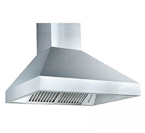 """Z Line 597-RD-42 1200 CFM Wall Mount Range Hood with Remote Dual Blower, 42"""", Stainless Steel"""