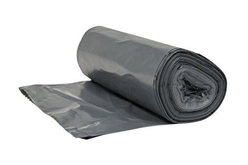 Rubbermaid Commercial FG500788 Gray 32 Gallon Linear Low Density Can Liner for Brute Utility Container (Case of 300) ()
