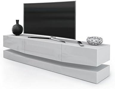 Porta Tv Moderno Modello New York Mobile Per Tv Per Il Tuo Soggiorno Frontali Bianco Lucido Amazon It Casa E Cucina