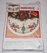 (Dimensions Visions of Christmas Tree Skirt)