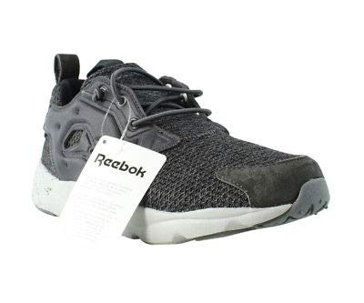 955386dfd78a Image Unavailable. Image not available for. Color  Reebok Furylite GW Ash  Grey Coal Steel Black Casual Trainers Mens Athletic Shoes