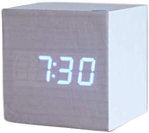 RTMN Despertador Cubo Reloj Despertador de Madera Escritorio ...