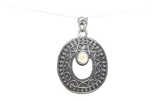 Cabochon Opal Cross - Ethiopian Opal Pendant, 925 Silver Pendant, Chakra Shape Pendant, Cabochon Stone Jewelry, Promise Pendant, Bridal Pendant, Natural Handmade Jewelry, Gypsy, Large Pendant, Minimalist Stone Pendant