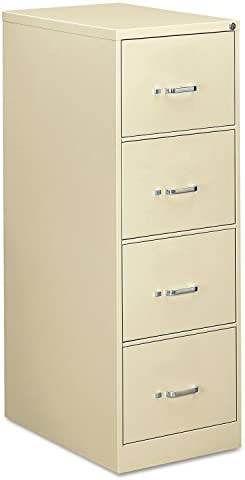 OIF Four Drawer Economy Vertical File Cabinet, 18-1 4-Inch Width by 26-1 2-Inch Depth by 52-Inch Height, Black