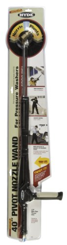 Hyde Tools 28450 4000 PSI 40-Inch Pivot Nozzle Pressure Washer Wand, Stainless Steel by Hyde Tools
