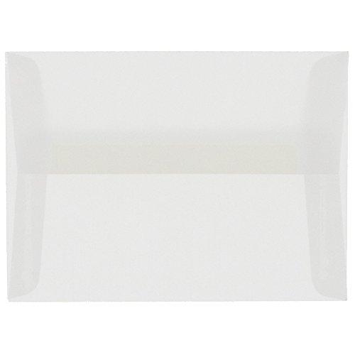 Square Vellum Envelopes - JAM PAPER A6 Translucent Vellum Envelopes - 4 3/4 x 6 1/2 - Clear - 25/Pack