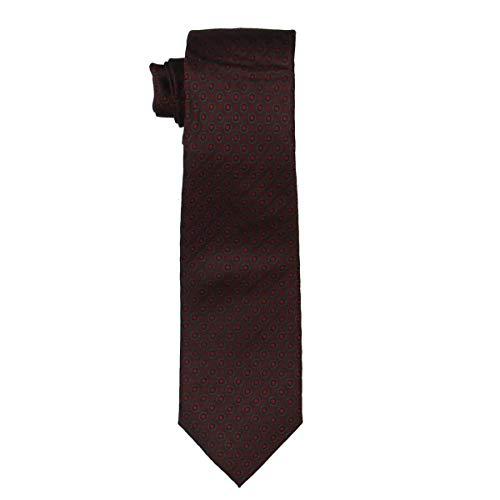 Alfani Mens Parker Silk Polka Dot Neck Tie Red O/S Alfani Mens Silk Tie