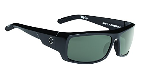 Spy Optic Admiral Wrap Sunglasses, 62 mm (Black)