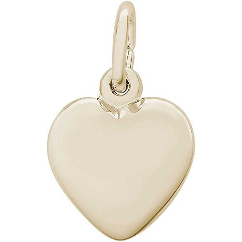 Rembrandt Charms Heart Charm, 14K Yellow - Love Ring Gold 14k