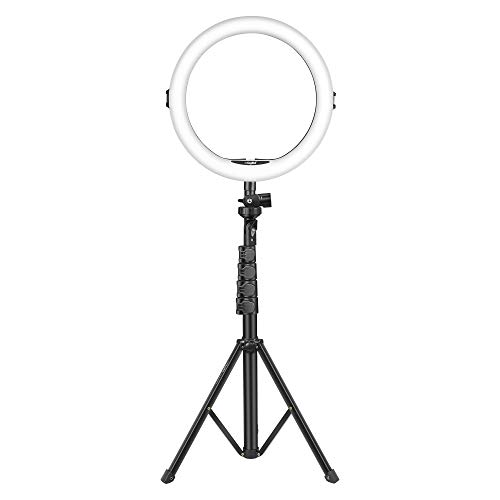 DIGITEK® (DRL 12C) Professional 12″ inch LED Ring Light with Tripod Stand for Mobile Phones & Camera | 3 color modes Dimmable Lighting | For YouTube | Photo-shoot | Video shoot | Live Stream | Makeup & Vlogging | Compatible with All Mobile/Smart Phones & Cameras