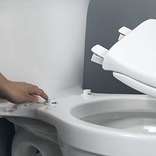 Bemis 1800EC 346 Plastic Elongated Toilet Seat with Easy Clean & Change Hinges Biscuit/Linen by Bemis (Image #2)