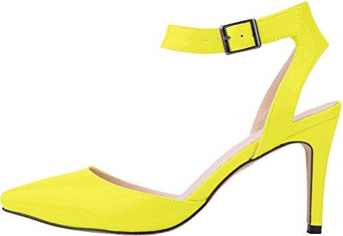 CFP - Zapatos con correa de tobillo mujer YGreen