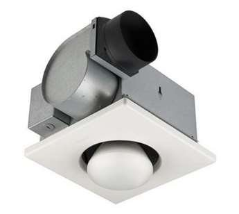 (Nutone 70 CFM Heat-A-Vent Bathroom Fan with One-Bulb Lamp Heater for 4