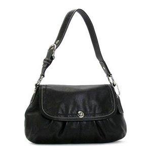 Coach Soho Pleated Leather Flap 13729, Black (Soho Hobo Leather)