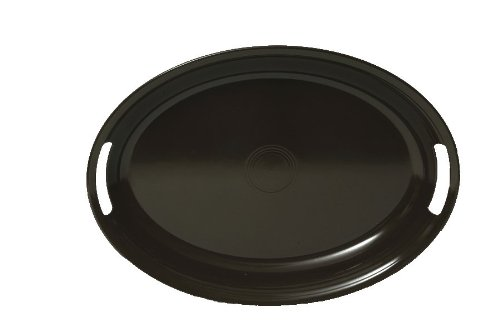 Fiesta Oval 16-Inch by 19-Inch Handled Tray, Chocolate Brown (Fiesta Serving Platter Oval)