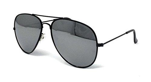 Homme WSUK de Mirrored One Frame Black Lens Lunettes Size soleil 46T6wqB7