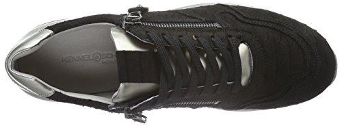 Kennel und Schmenger Schuhmanufaktur Runner - Zapatillas Mujer Multicolor - Mehrfarbig (schwarz/ivory Sohle ivory 350)