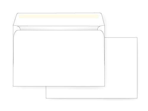 6 x 9 Booklet Envelope - 24# White Wove - Open Side- (6 x 9) - Jumbo Envelope Series (Box of 500) by Office Express