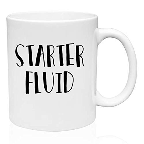 Humorous for Women /& Men Perfect Fun Gift ForMorning People-That Need A Kick- Family Co-Workers /& Bosses! Starter Fluid- Funny Coffee Mug /& Tea Mug for Work Friends White Ceramic Mug- 11 oz