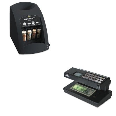 KITRSICO1000RSIRCD2000 - Value Kit - Royal Sovereign Portable 4-Way Counterfeit Detector (RSIRCD2000) and Royal Sovereign Fast Sort CO-1000 One-Row Coin Sorter (RSICO1000)