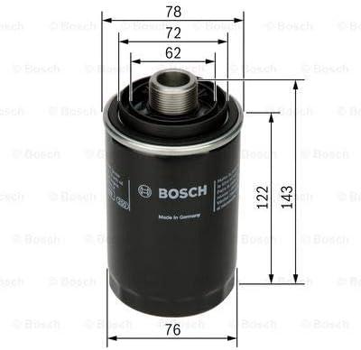 Huile Bosch F 026 407 080 Filtre