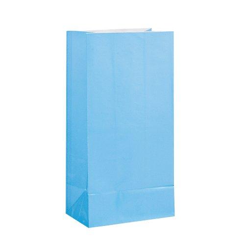 Papier Partytüte Babyblau 21 x 13cm - 12 Stück Packung