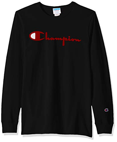 - Champion LIFE Men's Heritage Long Sleeve Tee, Black 90's Script, Small