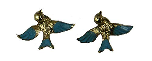 Pins & Brooches 6030263 6030247 Blue Bird of Happiness Earrings Christian Jewelry Brooch Bluebird Celebration of Life Services
