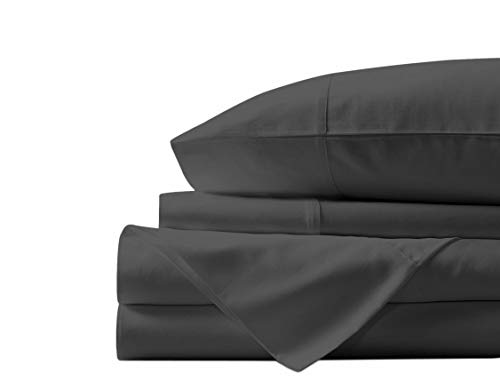 Simply Monk 800 Thread Count 100% Egyptian Cotton, Elephant Grey Queen Sheet Set, Percale Weave, 4 Piece Sheet Set,15