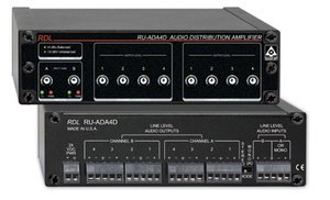 RDL RU-ADA4D Audio Distribution Amplifier 1/3 Rack, 10 k937 Balanced or Unbalanced Input Impedance - No Power Supply Included