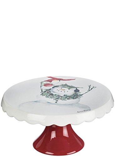 Sullivans PN2627 Ceramic Snowman, 10.5 x 5.5 Inches, White/Red