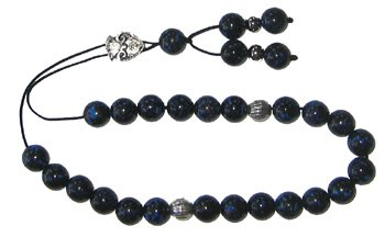 Worry Beads - Classic - Black with Turquoise (Greek Beads)