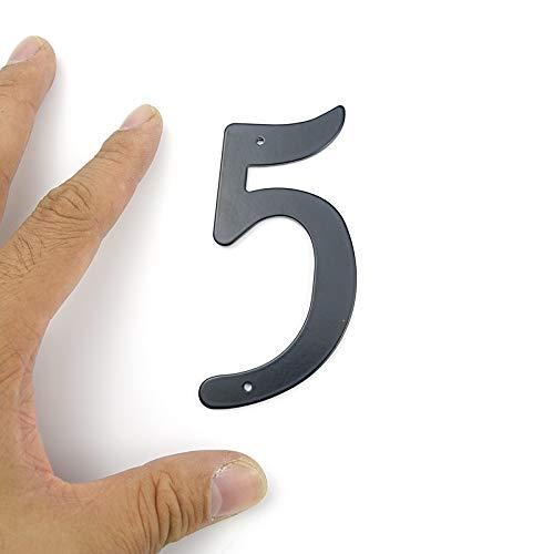 3 PC Negro 101mm Altura Casa N/úmero Casa Grande Puerta Direcci/ón de u/ñas d/ígitos N/úmero fijo de aluminio puerta grande Direcci/ón Se/ñal # 5