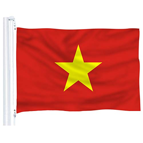 DFLIVE Vietnam Country Flag 3x5 ft Printed Polyester Fly Vietnam National Flag Banner with Brass Grommets