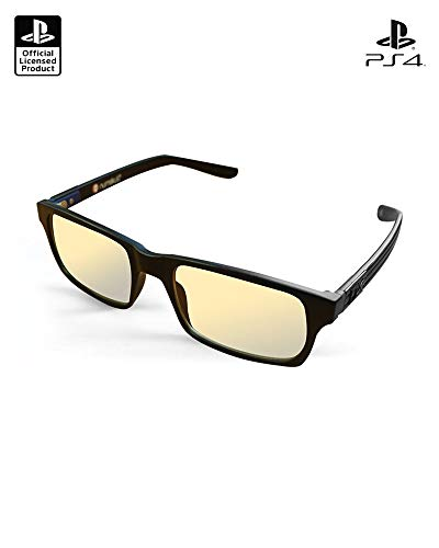 Official PlayStation UV and Blue Light Blocking Glasses - Anti Glare and Anti Fatigue, UV Blue Light Blocking Glasses - Eye Protection for Computer and Video Games - Protective Gaming Glasses