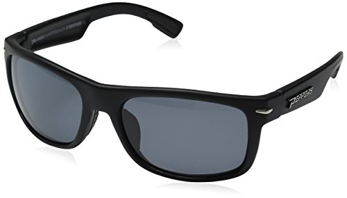 Pepper's Palisades Polarized Oval Sunglasses, Matte Black, 57 mm