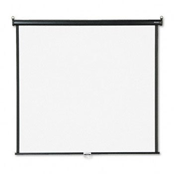 QUARTET Wall or Ceiling Projection Screen, 60 x 60, White Matte, Black Matte Casing (Case of 2) by Quartet