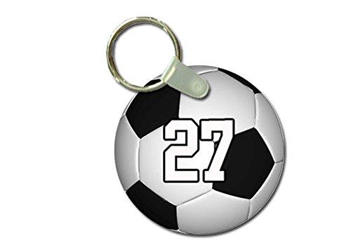 TYD Designs Key Chain Sports Soccer Customizable 2 Inch Meta