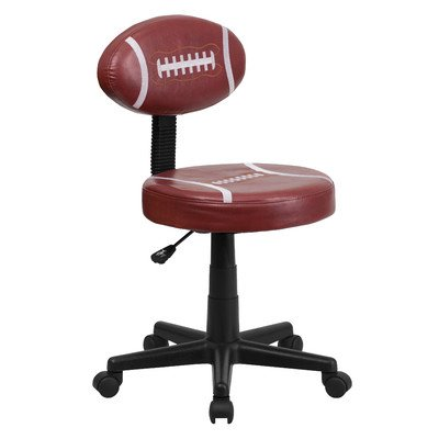 Football Mid-Back Kid's Desk Chair Arms: Not Included