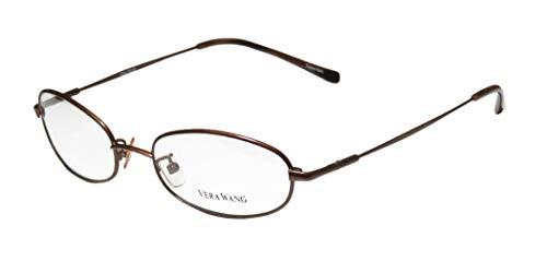 Vera Wang V17 Womens/Ladies Rx Ready Clearance Designer Full-rim Eyeglasses/Glasses (50-17-135, Chocolate)