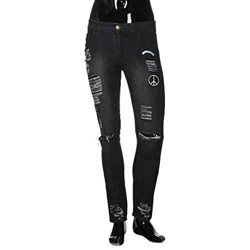Frayed Strappati Stretch Saoye Di Fashion Dunkelgrau Base Uomo Closure Pantaloni Jeans Pants Denim Chiusura Giovane Skinny Estiva Biker Da Slim Z7qafZ