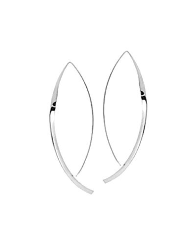 Upside Down Hoop Earrings 925 Sterling Silver Hooked on Hoops Inverted Hoops Gift for Women/Her Minimal Jewelry Hammered Flat