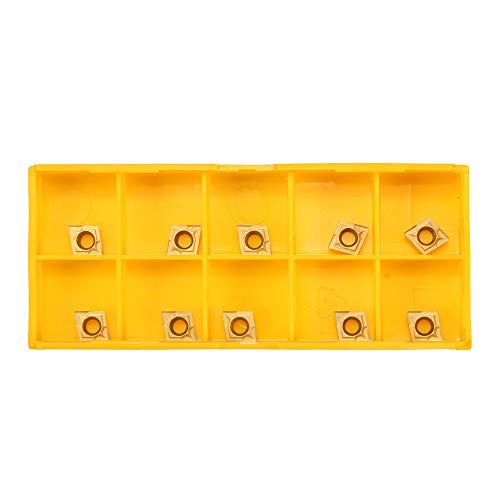 Carbide Inserts, KKmoon 10Pcs CCMT060204 US735 CCMT21.51 CNC Lathe Insert Blade for Steel/Stainless Steel