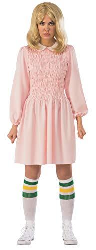 (Rubie's Women's Stranger Things Season 1 Adult Eleven Replica Costume Dress, Pink,)