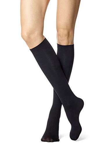 - HUE Women's No Band Knee-Hi Socks Black 2