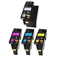 4 toner compatible cartridges for printers Xerox Phaser 6000, 6010, 6010V, 6010V N, 6010N; Xerox WorkCentre 6015, 6015V, 6015V B, 6015V N, 6015V NI colour printers best replacement for 106R01630, 106R01629, 106R01628, 106R01627, Black, Cyan - High Capacity, Magenta - High Capacity, Yellow - High Capacity cartridges