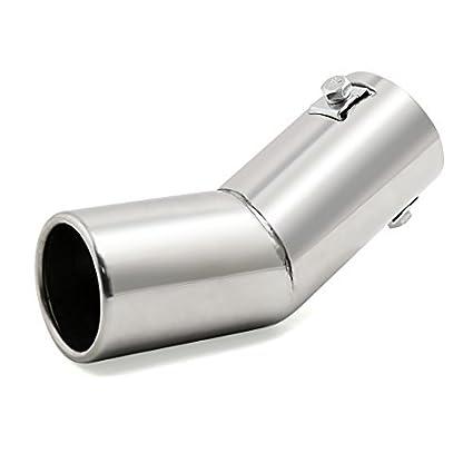 DealMux Universal se Adapta Coche Cromo del Acero Inoxidable Curvo de Escape de Cola extremidad del silenciador de Tubo Fit Diámetro 3/5 a 1 1/2 ...