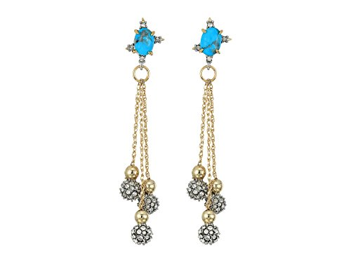 Alexis Bittar Women's Crystal Encrusted Dangling Sphere Post Earrings 10k Gold/Rhodium Accents One Size
