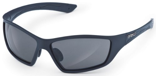 Briko Action Sports Sunglasses (Matte Black Frame, Polarized Grey AF - Briko Sunglasses